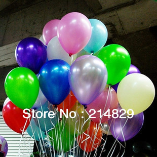 100pcs/lot 12inch Thick Romantic Decoration Pearl Ballon for Wedding Party and Festival Celebration(China (Mainland))