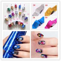 Hot Sale! Fashion New Hot Sells Glaxy Nail Sticker Decal Nail Art Foil 36 Colors Free Shipping 10pcs/lot