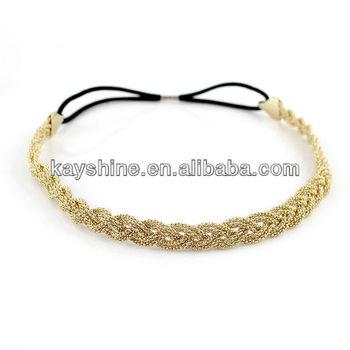Summer Gold Color Elegant  Braids Hair Band