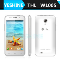 4.5inch Mobile phoneTHL W100S Android 4.2 MTK6582M Quad core 1.3GHz  IPS Screen 4GB ROM 3G  5.0Mp  8.0MP dual Camera cell phone