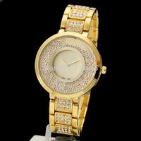 Watches Women Luxury Brand 2014 Retro Style Stainless Steel Band Full Rhinestone Watches Ladies Fashion Brand Dreess Watches