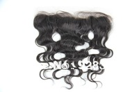 100% hair Brazilian Body wave Lace Frontal Hair Lace Closure Bleached Knots Free Part 13x2 Remy Hair Closure