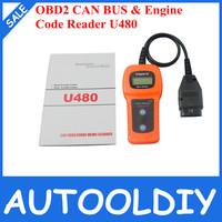 2014 Newest High Quality U480 OBD2 CAN BUS & Engine Code Reader U480 Code Reader Scanner for VW,AU-Di U480 Scanner Free Shipping