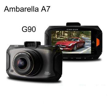 Ambarella A7 Car DVR G90 1080P Full HD G-sensor Cycle Recording 170 degree wide angle camera good night vision