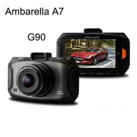 Ambarella A7 Car DVR G90 1080P Full HD G-sensor Cycle Recording 170 degree wide angle camera good night vision