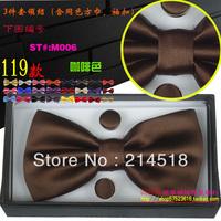 Free Shipping Fashion Men's Necktie Set 100% Silk Business Tie 1 Tie+1 pair cuff-links+1 hankie+1 gift box M0006-3