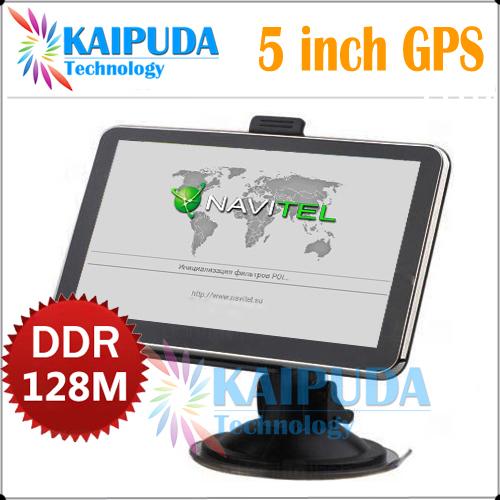5 inch gps navigation,MTK,FM,DDR128M\4GB,Russian\Czech\Hebrew\Bulgarian\Polish\Spanish,Navitel(RU+UKR+BLR+KAZ),car gps(China (Mainland))