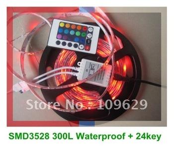 20%OFF 5M Waterproof RGB LED Strip Lights SMD 3528 60leds/m +24Key Controller