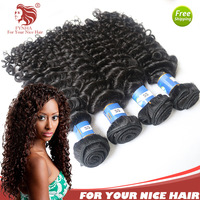 2014 Fashion Brazilian virgin hair weave deep curly 3bundles lot unprocessed human hair fast ship  For Your Nice Hair products