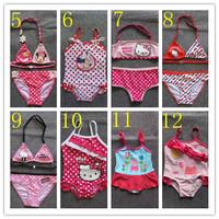 free shipping for 2-9yrs, Children/ Girls' swimsuit / swimwear kids beach wear/ surfing/ swimming wear BBY-145-2
