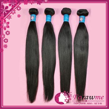 Forawme Hair Virgin Peruvian Hair Straight 1b Color Mixed Lengths 4 pcs lot Unprocessed Human Hair Weaving , Straight peruvian