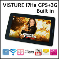 VISTURE i7Hs 7&quot; Tablet Phone 1024x600 MTK 6577 Dual Core Cortex A9 1.2G x 2 Android Dual Camera Built in 3G GPS TV FM Bluetooth