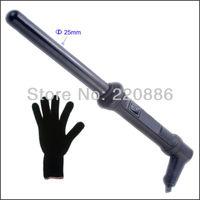 Hair Curling Wand  Ceramic Curling Iron GIC-HC219C  Dual Voltage 110v-240v  free glove + free shipping