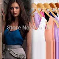 New 2014 Woman Brand Top Basic Female Chiffon Sleevelss Shirt Blouse Blusas Femininas Tank Tops XXXL Plus size