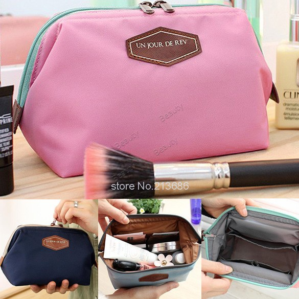 2014 New Cute Women's Lady Travel Makeup bag Cosmetic pouch Clutch Handbag Casual Purse #2 SV002470(China (Mainland))