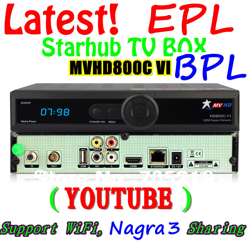 [BPL+HD channels] 2014 Lastest MVHD HD800C-VI FYHD+Nagra3(Icam share)+IPTV(Youtube)+WIFI Singapore StarHub TV FYHD 800C MVHD(China (Mainland))