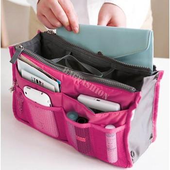 10PCS/LOT cosmetic storage box Large liner Tidy Bag Pouch case handbag purse for women 8 color 35