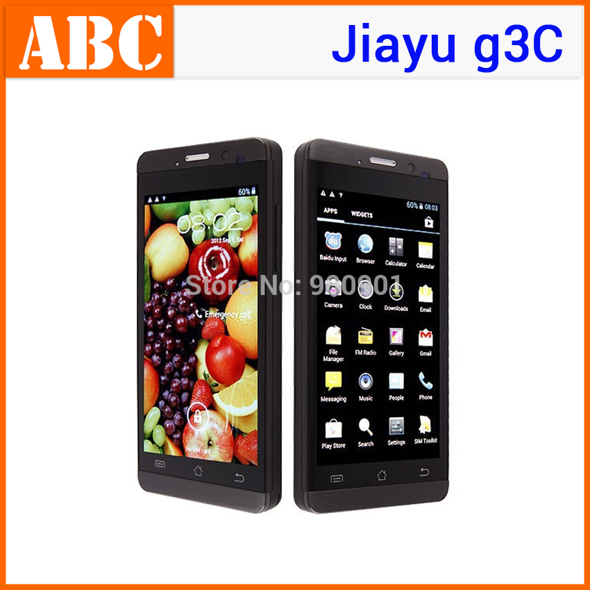 Stock! Cheap original JIAYU G2 android MTK6577 Dual Core IPS Screen cell phone G2s Black 8MP 1GB / 512M RAM 4GB ROM(Hong Kong)