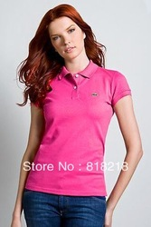 free shipping women Polo t-shirt slim fit cotton summer male t shirt turn-down collar loose short-sleeve classic hot(China (Mainland))