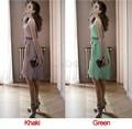 Promotions!! Woman Fashion Summer Chiffon Dress Elegant Sleeveless Dress Free Shipping 34