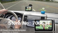 5 inch HD GPS 800*480 with FM& Win ce 6.0 128MDDR with 2012 IGO8  maps and supply Navitel 5.5 map for Russian
