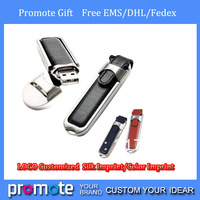 free DHL /EMS custom leather Classcial usb flash drives best promotion gifts 1gb 2gb 4gb 8gb  100 % real usb flash memory