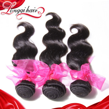 longqi hair products grade 6A unpprocessed Brazilian virgin Hair Body Wave 3pcs natural Human Hair Weave Wavy Brazilian Hair