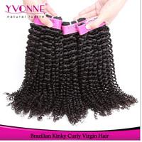 Fashion Brazilian Virgin Kinky Curly Hair Weave,100% Human Hair,8-24 Inches Aliexpress Yvonne Hair,Natural Color