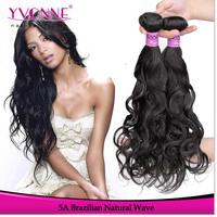 3Pcs/lot Natural Wave Brazilian Hair Weave,Grade 5A Virgin Remy Hair,12-28 Inches Aliexpress YVONNE Hair,Natural Color 1B