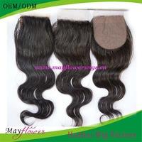Top Natural Scalp color 6A Grade Stock silk base top closure Body Wavy 3.5x4/4x4