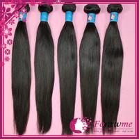 1b human hair unprocessed peruvian virgin hair straight weave 3 bundles lot pervian hair weft Forawme hair products