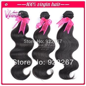 6A real brazilian virgin hair weaves, body wave 4pcs/lot sale, no tangle, no shedding