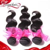 Xuchang Longqi Hair 6A Unpprocessed Brazilian Virgin Hair Body Wave 3PCS Natural Human Hair Weave Wavy Brazilian Hair LQBBW006