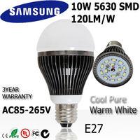 8pc/lot 10w led bulb bubble globe lamp light E27 85-265V 110v 220v 240v dimmable + indimmable 3year warranty : A68-10-2