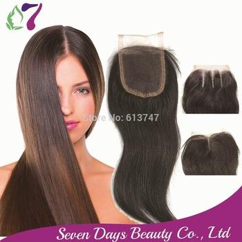 8A 3.5x4 Lace Closure Brazilian Hair Straight Human Virgin Hair Closure Unprocessed Top Closure Middle 3 Part Bleached Knots