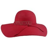 Best Selling Vintage Black Wide Brim Wool Felt Bowler Fedora Hat Floppy Cloche Beach Hats For Women Sun Hats SV18 SV004510