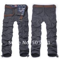 Machstick  Unique design men's cargo pants Solid Thick Fabric 8 multi-pockets trousers Plus size 3XL-7XL #6325