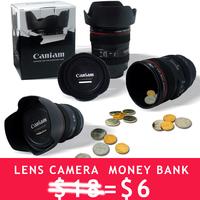 1PC 2015 New camera lens saving money box   Coin Bank,Money Box , Money Bank  for Children christmas gift