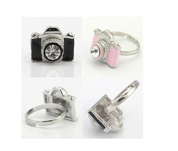 Korea Korean fashion ring camera Rings Finger Jewelry Stylish Accessories JZ-026(China (Mainland))