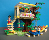 ORIGINAL PACKING 2014 new designed baby girls toy blocks  308 pcs tree house  building blocks model christmas gift for  girl