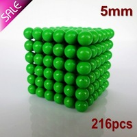 Free shipping New Style 216pcs 5mm buckyballs magnetic balls neocube cybercube magcube at round tin box  Glow In The Dark