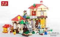 Banbao Building Blocks, Farm Happy Animal Farm,#8572,Self-locking Bricks, Enlightening Toys for Childrn,  children gifts