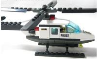 6729 Enlighten Child DIY Educational police helicopter 102 PCS Assembles Particles Block Toys Building Set