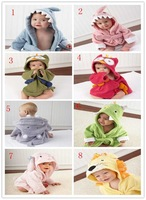 Hot!Retail boy girl Animal Baby bathrobe/baby hooded bath towel/kids bath terry children infant bathing/baby robe HoneyBaby