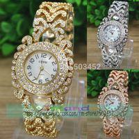 50pcs/lot Stylish Design Luxury Ladies Dress Watch Wrap Quartz Full Crystal Wristwatch Wholesale Price Alloy Bracelet Watch