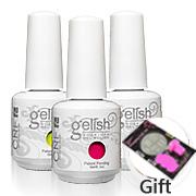 (free gift Nail Art Stamping Template 1 Set) 24pcs  UV & LED nail gel polish +Free Shipping 20colors +2base + 2base UV Gel