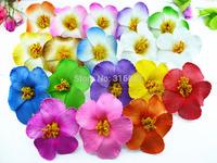 36pcs free shipping mixed colors Foam Hawaiian  flower  Hibiscus Flower bridal hair clip 9cm + 18 colors
