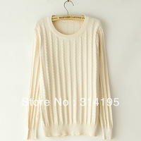 3color Free\Drop Shipping factory price wholesale casual knitted sweater women o-neck long-sleeve basic sweater shirt  hyp8063