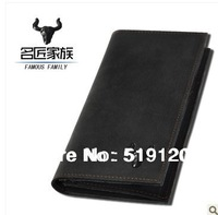 Full Grain Cow leather men bag wallet!2013 New 100% cowhide genuine leather man bifold wallet billfold,card holder, long version