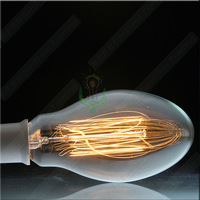 wholesale freeshipping Classical Edison Tungsten Filament Wire Incandescent bulb E27 high quality >2000 hours 2013 new egg T70